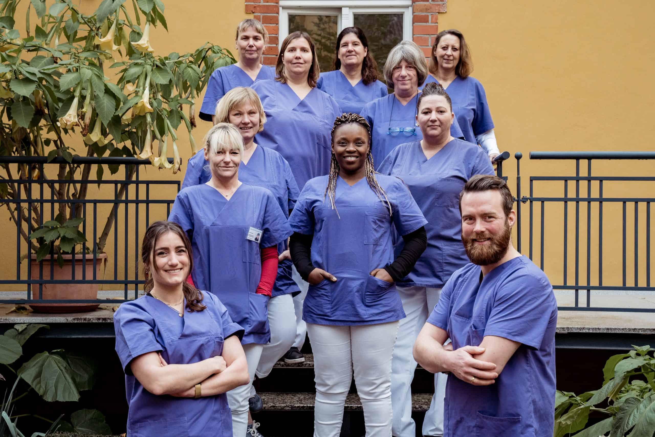 Das Team vom ambulanten Pflegedienst Niederrhein
