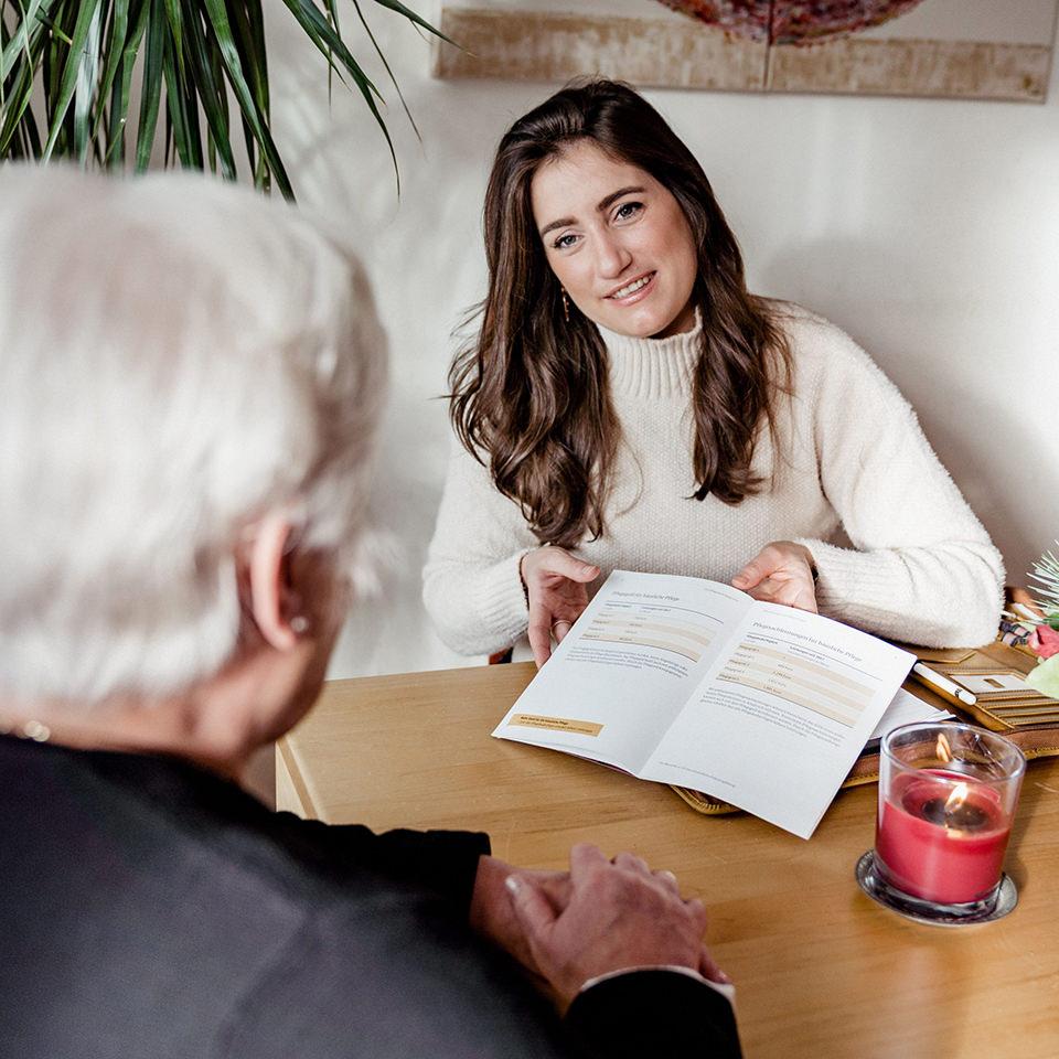 Ambulanter Pflegedienst Niederrhein Beratungsgespräch